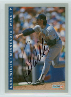 Carl Willis AUTOGRAPH 1993 Fleer Twins 