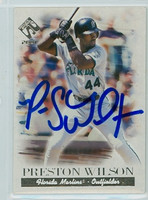 Preston Wilson AUTOGRAPH 2001 Pacific Marlins 