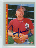 Tracy Woodson AUTOGRAPH 1993 Fleer Cardinals 