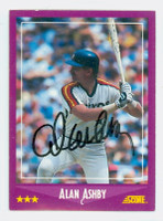 Alan Ashby AUTOGRAPH 1988 Score Red Sox 