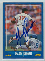 Marty Barrett AUTOGRAPH 1988 Score Red Sox 
