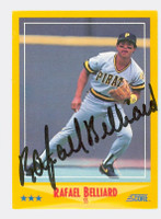 Rafael Belliard AUTOGRAPH 1988 Score Pirates 