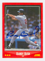 Randy Bush AUTOGRAPH 1988 Score Twins 