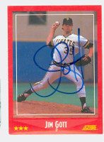 Jim Gott AUTOGRAPH 1988 Score Pirates 