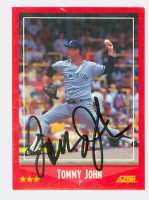 Tommy John AUTOGRAPH 1988 Score Yankees 