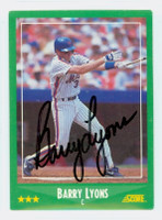 Barry Lyons AUTOGRAPH 1988 Score Mets 