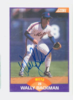 Wally Backman AUTOGRAPH 1989 Score Mets 