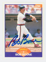 Bob Boone AUTOGRAPH 1989 Score Angels 