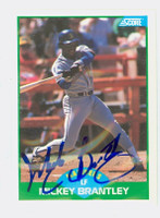 Mickey Brantley AUTOGRAPH 1989 Score Mariners 