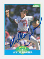 Willie Fraser AUTOGRAPH 1989 Score Angels 