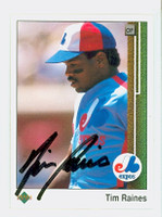 Tim Raines AUTOGRAPH 1989 Upper Deck Expos 