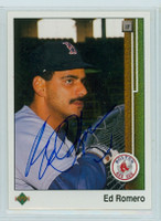 Ed Romero AUTOGRAPH 1989 Upper Deck Red Sox 