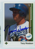 Tracy Woodson AUTOGRAPH 1989 Upper Deck Dodgers 