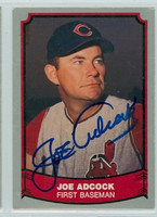 Joe Adcock AUTOGRAPH d.99 1988 1988|89 Pacific Legends Indians 