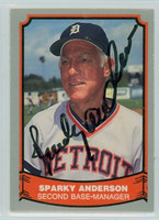 Sparky Anderson AUTOGRAPH d.10 1988 1988|89 Pacific Legends Tigers 