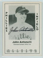 Johnny Antonelli AUTOGRAPH 1979 TCMA Diamond Greats Phillies 