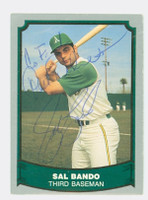 Sal Bando AUTOGRAPH 1988|89 Pacific Legends Athletics 