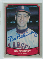 Bo Belinsky AUTOGRAPH d.01 1989 1988|89 Pacific Legends Angels 
