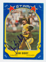 Jim Bibby AUTOGRAPH d.10 Star Sticker Pirates 