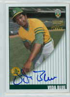 Vida Blue AUTOGRAPH 2002 Topps Insert Super Teams Athletics CERTIFIED 