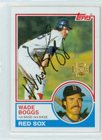 Wade Boggs AUTOGRAPH 2001 Topps Archives 1983 Topps Red Sox 