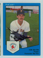 Tom Bolton AUTOGRAPH 1989 ProCards Red Sox 