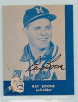 Ray Boone AUTOGRAPH d.04 Lake to Lake Braves Reprints 