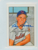 Ray Boone AUTOGRAPH d.04 1952 Bowman Reprints Indians 
