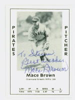 Mace Brown AUTOGRAPH d.02 1979 TCMA Diamond Greats Pirates 