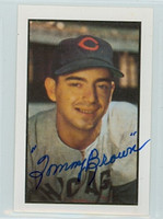Tommy Brown AUTOGRAPH 1953 Bowman Color Reprints Cubs 