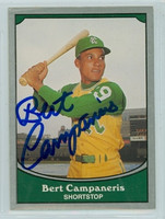 Bert Campaneris AUTOGRAPH 1990 Pacific Legends Athletics 