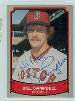 Bill Campbell AUTOGRAPH 1989 1988|89 Pacific Legends Red Sox  PERS