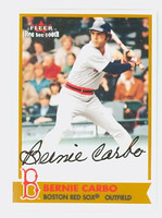 Bernie Carbo AUTOGRAPH 2001 Fleer Red Sox 100th CERTIFIED 