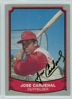 Jose Cardenal AUTOGRAPH 1989 1988|89 Pacific Legends Indians 
