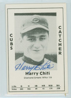 Harry Chiti AUTOGRAPH d.02 1979 TCMA Diamond Greats Cubs 