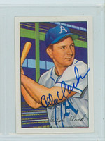 Allie Clark AUTOGRAPH d.12 1952 Bowman Reprints Athletics 