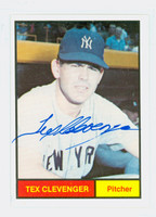 Tex Clevenger AUTOGRAPH Galasso 1961 World Champion New York Yankees 