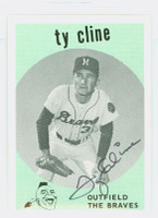 Ty Cline AUTOGRAPH The Braves / The Yankees 