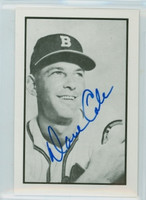 Dave Cole AUTOGRAPH d.11 1953 Bowman B|W  Reprints Braves 