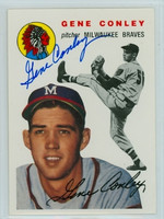 Gene Conley AUTOGRAPH Topps 1954 Archives #59 Braves 