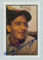 Sandy Consuegra AUTOGRAPH d.05 1953 Bowman Color Reprints Senators  SALUT