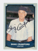 Shag Crawford AUTOGRAPH d.07 1988|89 Pacific Legends 