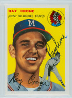 Ray Crone AUTOGRAPH Topps 1954 Archives #206 Braves 