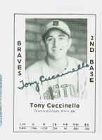 Tony Cuccinello AUTOGRAPH d.95 1979 TCMA Diamond Greats Braves 