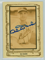 Al Dark AUTOGRAPH d.14 1980-83  Cramer Baseball Legends Braves 