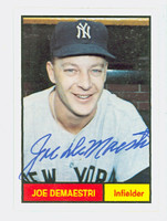 Joe DeMaestri AUTOGRAPH d.16 Galasso 1961 World Champion New York Yankees 