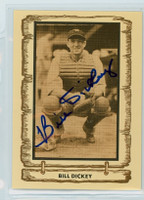 Bill Dickey AUTOGRAPH d.93 1980-83  Cramer Baseball Legends Yankees 