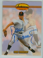 Dave Dravecky AUTOGRAPH Ted Williams Giants 