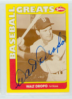Walt Dropo AUTOGRAPH d.10 Swell Red Sox 
