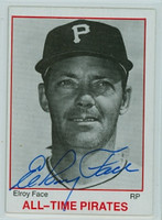 Roy Face AUTOGRAPH TCMA All-Time Pirates 